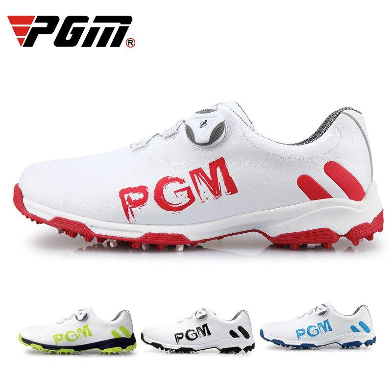 Chinelo e Sapatos de Golfe à Prova Golfe Sapatos Masculinos Calçados Esportivos Rendas d' Água Pgm Mod. 175542