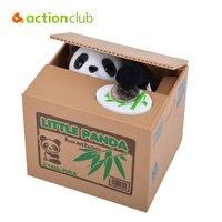 Cute Panda Money Box Children Adorable Money Storage Kids Animal Coin Bank Electrical Piggy Bank For