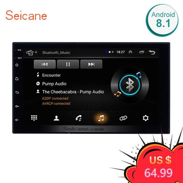 """Seicane Универсальный Android 8,1 7 """"2Din автомобильный Радио сенсорный GPS; Мультимедийный проигрыватель для Nissan Toyota Kia RAV4 Honda VW hyundai"""