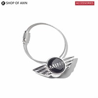 Wing Emblem Key Chain Metal Logo Keychain Key Ring Hangings For Mini Cooper