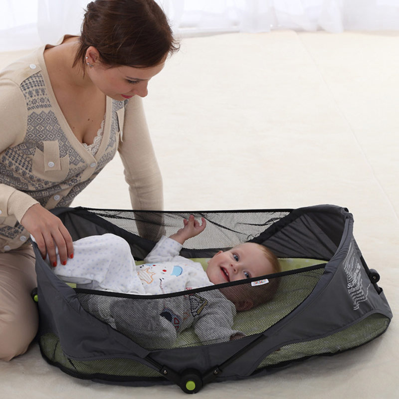 Portable Outdoor Travel Baby Cradle Crib Comfortable Breathable Folding Safety Infant Sleeping Bed Mommy Bag YH-17 2in1 baby travel crib can be mummy bag protable fold travel baby bed