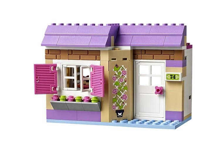 DIYBela 10495 heartlake Food Market 41108 construction Designers model Toy horses for children compatible with legoe friends bri
