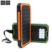 Hoco para Casa de Viagem Conduziu a Lâmpada Carregador de Celular Solar Power Bank Powerbank Portátil À Prova D' Água Universal Dupla Portas USB