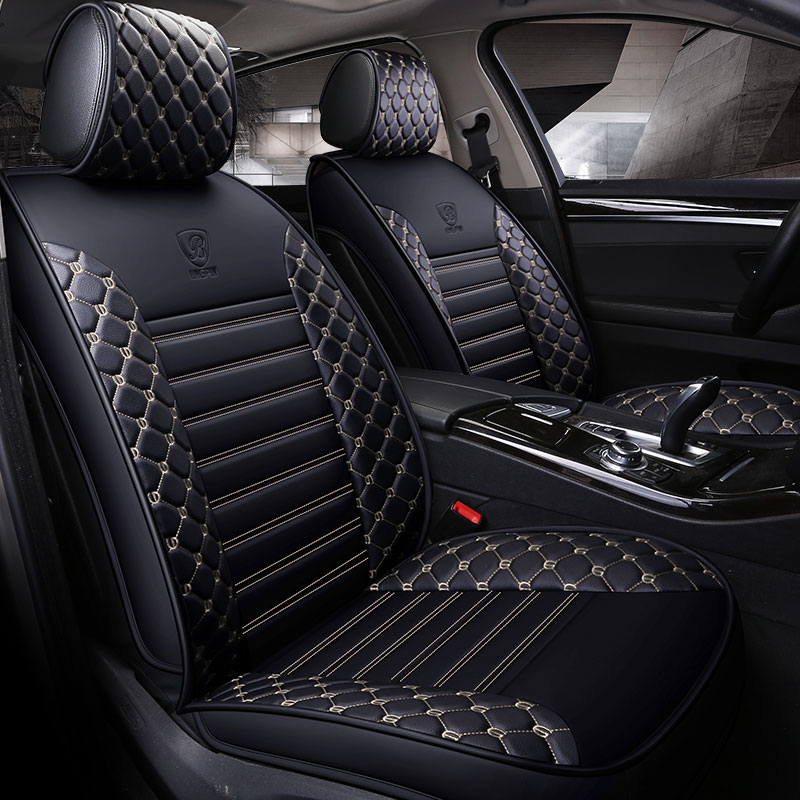 housse de si ge de voiture en cuir universel de voiture si ge tapis protecteur pour renault. Black Bedroom Furniture Sets. Home Design Ideas