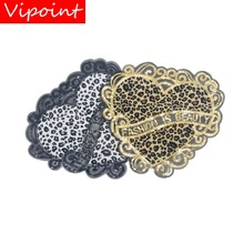 embroidery heart patches for jackets,hearts badges jeans,DIY animal appliques A84