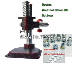 Fabric Covered Button Press Machine Tool +1 Die Mold 30#1.8cm(0.7'')+500 sets of Self Cover Buttons 30#1.8cm(0.7'')