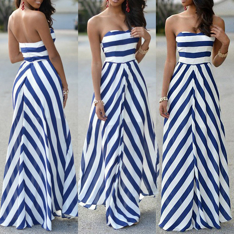 HTB1zzBZaoY1gK0jSZFCq6AwqXXaA Womens Off Shoulder Striped Maxi Dress Party Long Maxi Beach Sundress Sexy Sleeveless Backless Dress Summer Dress Womens 2019