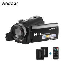 Andoer HDV 201LM 3 インチ画面 1080 1080P FHD デジタルビデオカメラ Fotografica ビデオカメラ 4MP 16X デジタルズーム + 充電式バッテリーセット
