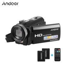 Andoer HDV 201LM 3 Inç Ekran 1080 P FHD Dijital Video Kamera Fotografica Kamera 4MP 16X Dijital Zoom + şarj edilebilir pil Set