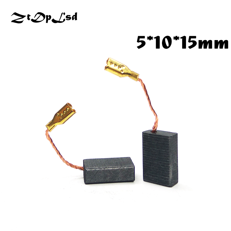 ZtDpLsd 2 Pcs/Pairs 5x10x15mm Mini Drill Electric Grinder Replacement Carbon Brushes Spare Parts For Electric Rotary Tool