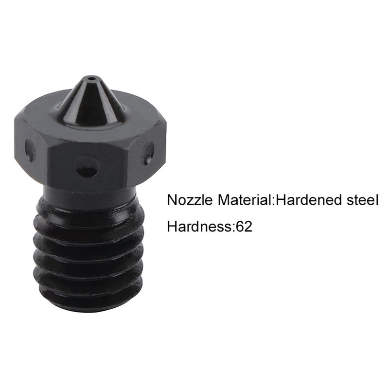 Image 2 - Hardened Steel V6 Nozzles For High Temperature 3D Printing Pei Peek Carbon Fiber Filament For Titan Aero Hotend-in 3D Printer Parts & Accessories from Computer & Office