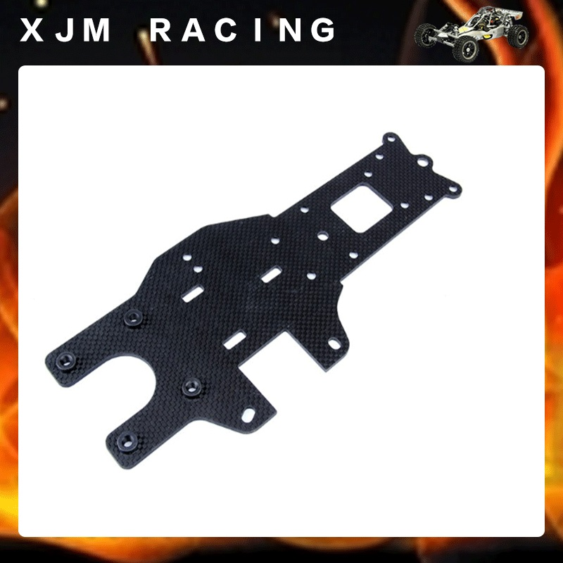Carbon fiber rear chassis plate For engines parts for 1/5 hpi rovan km baja 5b ss rc car gas parts cnc metal symmetrical steering kits plastic rod version fit for hpi baja 5b ss 5t rc car parts