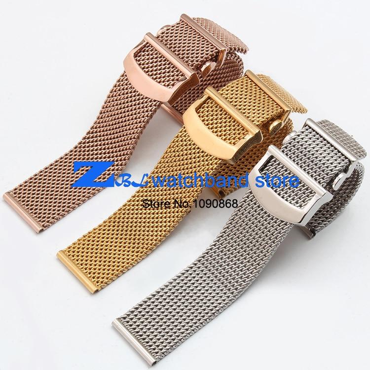 Hög kvalitet tjockt rostfritt stål klockband Mesh stålband silver - Tillbehör klockor - Foto 2