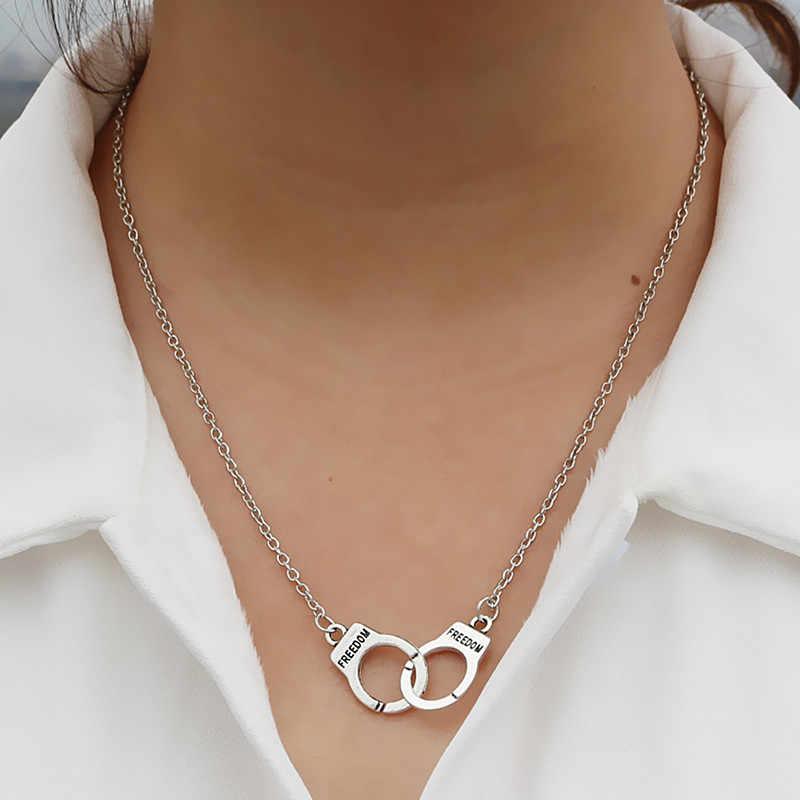 Nk2039 발렌타인 데이 선물 애호가 steampunk 남자 여자 보석 애호가 자유 수갑 체인 펜던트 목걸이 선물 bijoux 고리