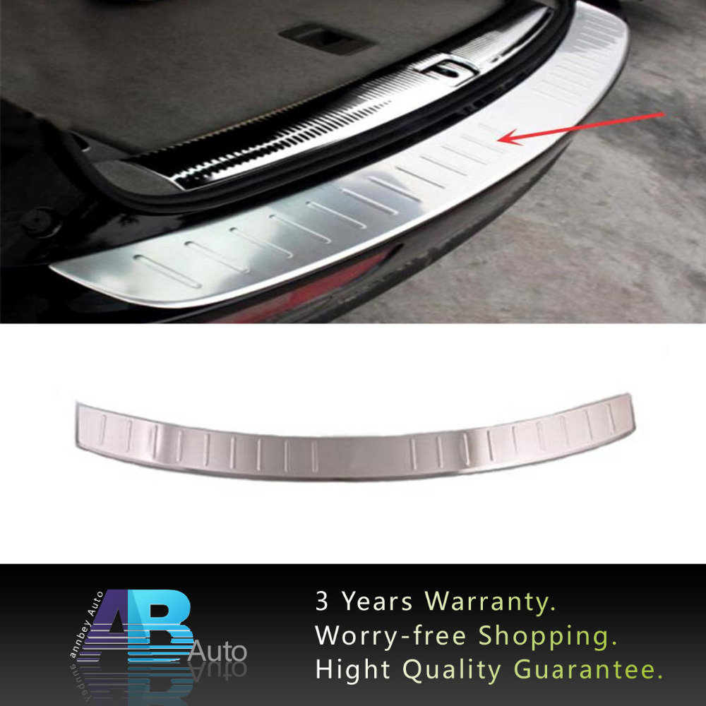 ФОТО Stainless Steel Interior Rear Bumper Protector Sill Threshold Pad Tread Plate Pedal For Audi Q5 2009-2015