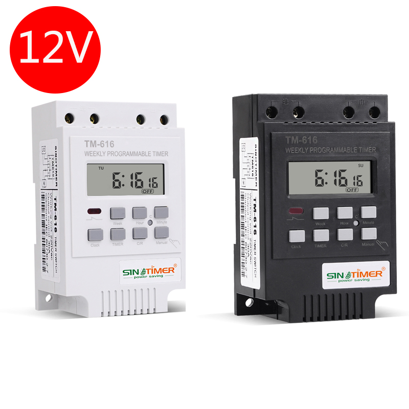 30AMP DC 12V TIMER SWITCH 7 Days 17ON/OFF Programmable 24hrs Time Relay FREE SHIPPING 2 channel 7 days programmable digital time switch 220v timer relay control din rail mount free shipping