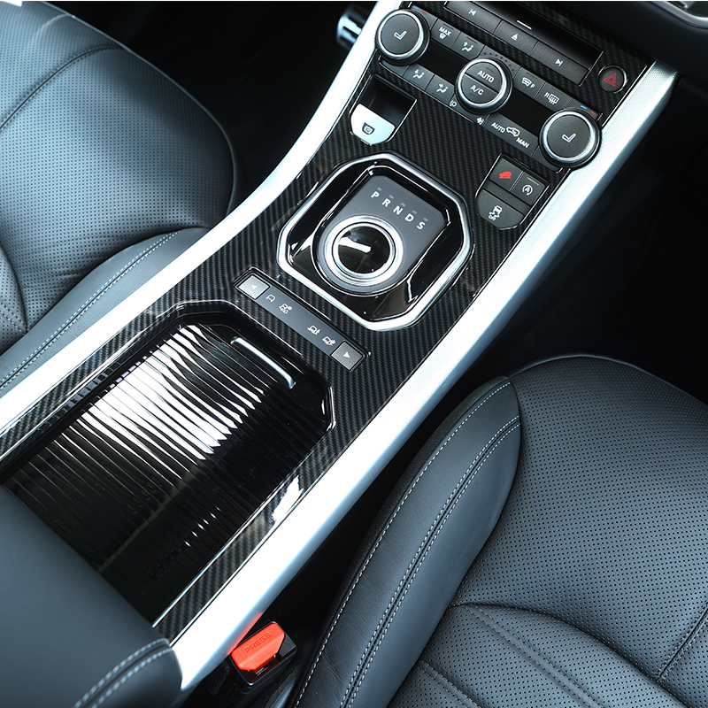 Углеродного волокна ABS Пластик автомобильные аксессуары для Land Rover Range Rover Evoque 2012-2017 внутренняя молдинги крышка планки авто запчасти