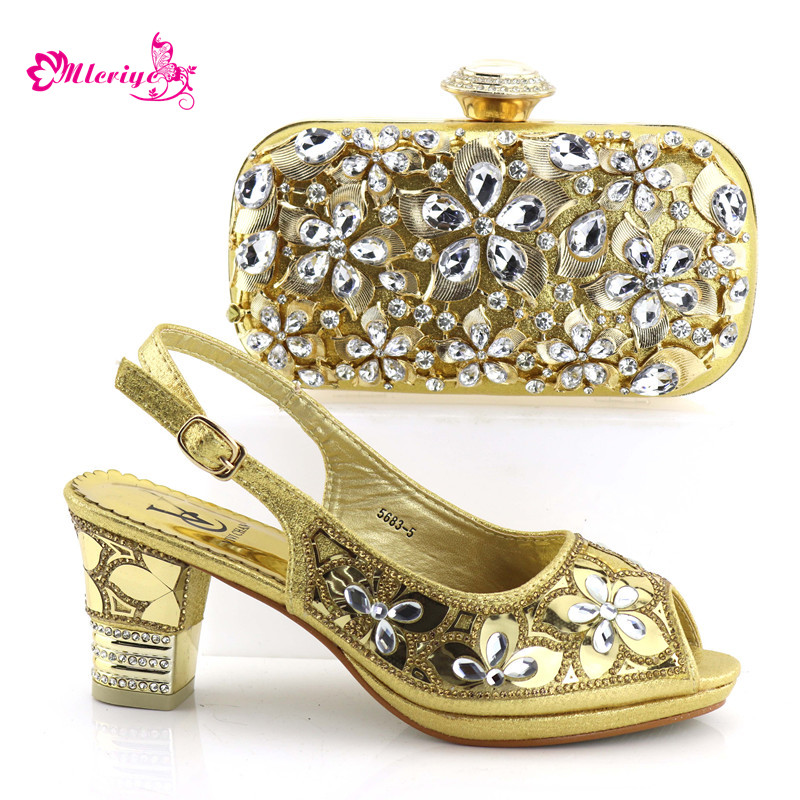 5683-5 Italian Shoes with Matching Bags 2018 African Shoe and Bag Set Italian Design African Shoes and Bag Set for golden cd158 1 free shipping hot sale fashion design shoes and matching bag with glitter item in black