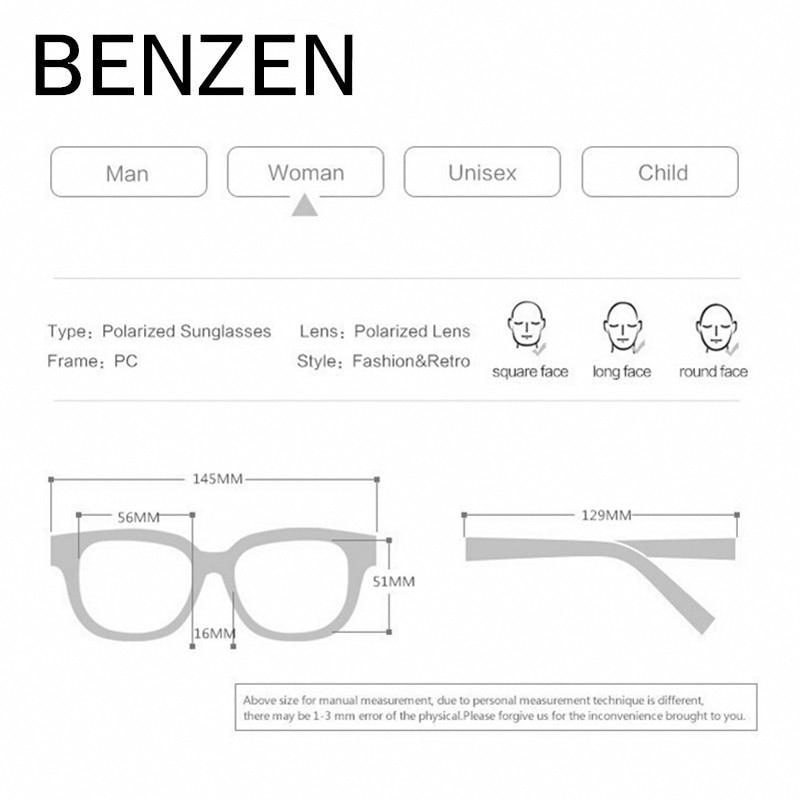 BENZEN luxus Rhineston napszemüveg női márkájú, polarizált női - Ruházati kiegészítők - Fénykép 2