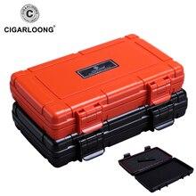 CIGARLOONG Cigar Humidors Portable Travel Box 5 sticks waterproof cigar bag CA-0020
