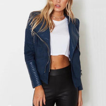 2018 New Women Autumn Winter PU   Suede Faux Leather Jackets