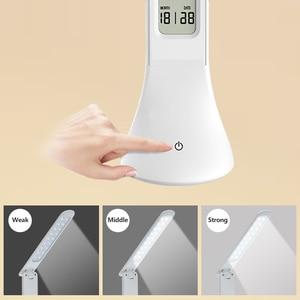 Image 4 - Lampe tactile pliable avec calendrier, lumière à intensité réglable, pour une Table de bureau, modèle LED