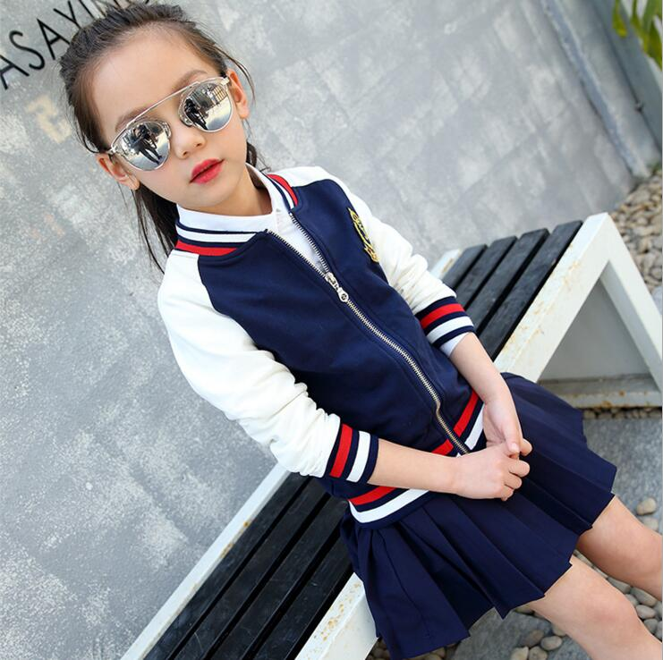 kids Sports coats Childrens clothing 2017 fashion spring and autumn baby girls clothes outerwear child Baseball jackets ...