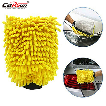 2pcs Microfiber Chenille Waterproof Car Wash Gloves 4 In 1 Multifunction Thick Car Cleaning Mitt