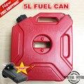 Tanque de Combustible 5 litros Bidones De Plástico De Repuesto Tanques de Gasolina Atv Bidón de Montaje de Motocicletas De Gas Puede Contenedor de Aceite de Combustible de Gasolina-jarras