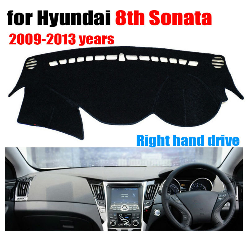 RKAC Car Dashboard Cover Mat For Hyundai 8th Sonata 2009-2013 Right Hand Drive Dashmat Pad Dash Cover Auto Dashboard Accessories