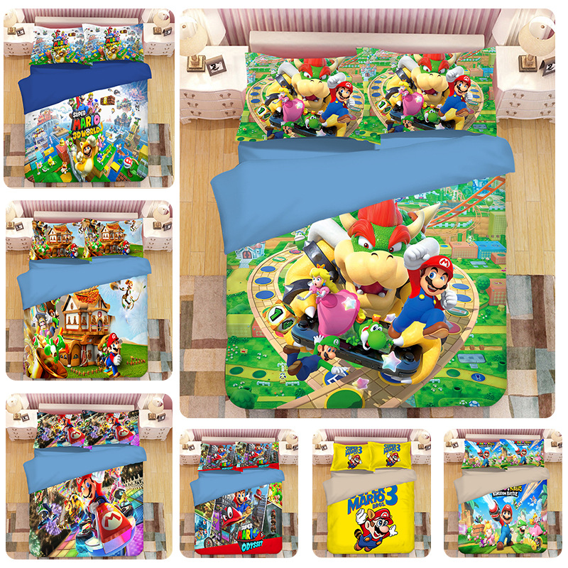 2019 Hot NS Game Super Mario Odys 3D Bedding Set Duvet Covers Pillowcases Comforter Bedding Sets Bedclothes Bed Linen2019 Hot NS Game Super Mario Odys 3D Bedding Set Duvet Covers Pillowcases Comforter Bedding Sets Bedclothes Bed Linen