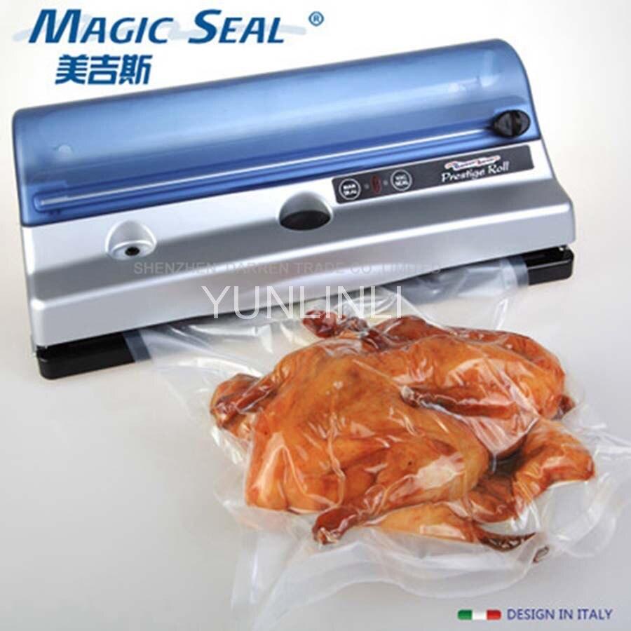 Automatic Household Vacuum Food Sealer Electric Vacuum Sealing Machine Food Saver Vegetable Packaging Machine title=