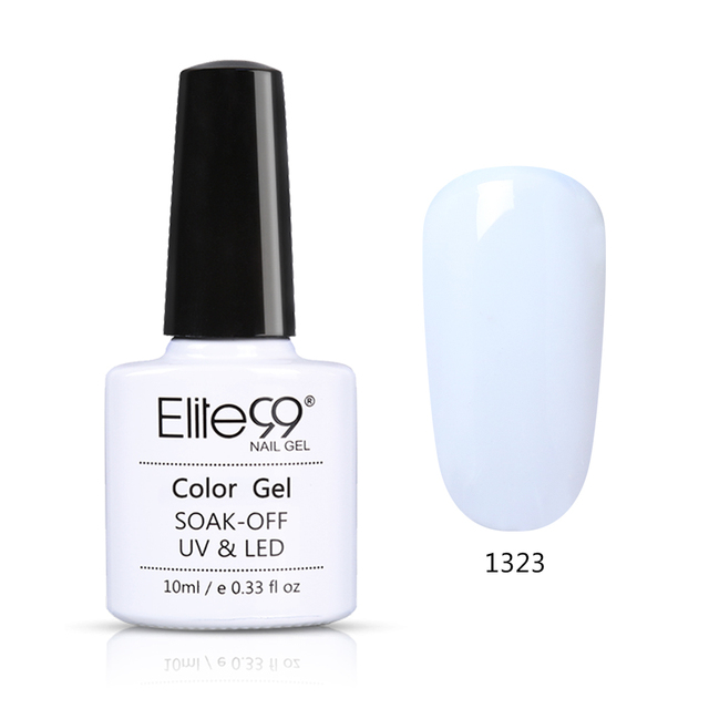 Elite99 10ml Reine Farbe UV LED Gel Tränken Weg Schwarz Weiß Farbe Gel Nagel Lack Langlebige Nagel art Design Gel Lacke