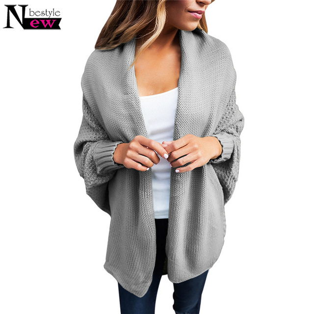 43fead5cc Newbestyle 2019 Women s Casual Dolman Sleeve Knit Cardigan Open Front  Sweaters Female Knitted Sweater Soft Basic Sweaters S-XXL