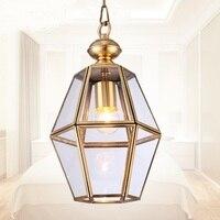 Европейский гостиная Открытый Подвесные Светильники творческий спальня настольная лампа наружного освещения Американский вилла прохода