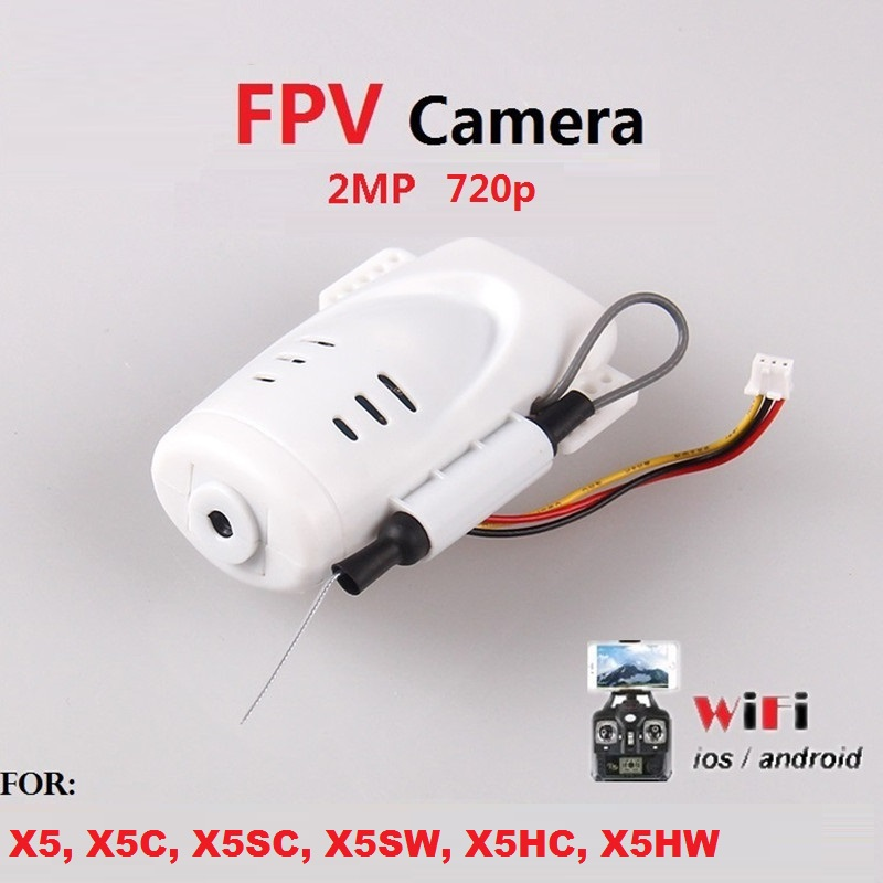 720p 2MP WiFi FPV Camera For SYMA X5C X5 X5C-1 X5SC X5SW JJRC H5C RC Drone Quadcopter With Phone Holder Syma Camera Spare Parts
