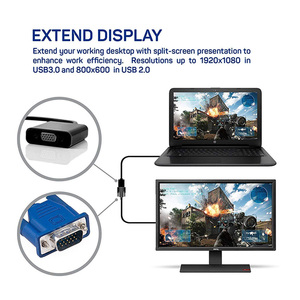 Image 2 - Rovtop USB 3.0 to VGA Adapter External Video Card Multi Display Converter for Win 7/8/10 Desktop Laptop PC Monitor Projector