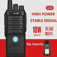 cb רדיו Protable Q10 מכשיר הקשר צריכת חשמל גבוהה רדיו דו כיווני UHF Portable Ham FMR Xunlibao CB רדיו 10W Interphone לתכנות (1)