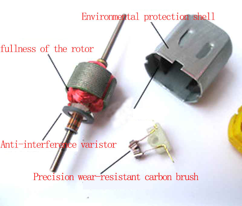 DC 1.5V 3V 5V 6V 12V 5400RPM Long Dual Shaft Mini 130 Carbon Brush Motor DIY Toy