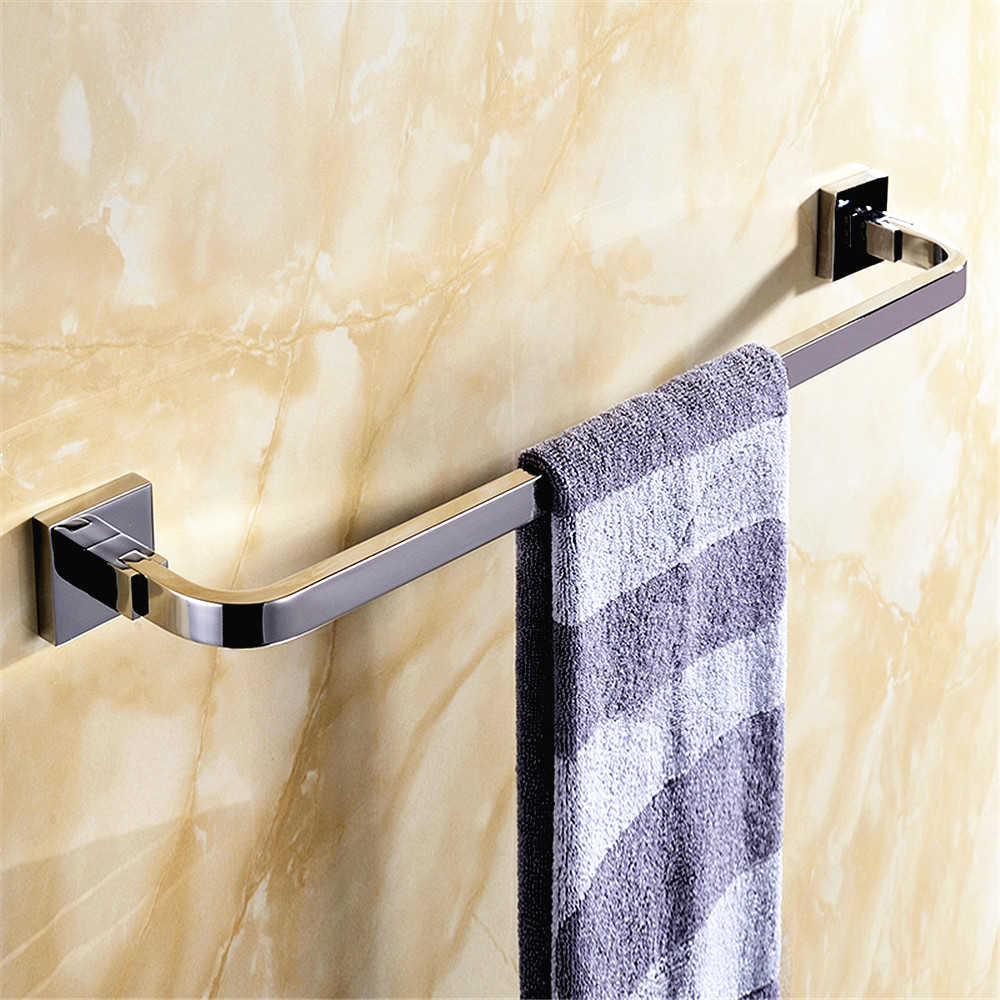 Bathroom towel bars wall mounted sus 304 stainless steel wall mounted bathroom towel rail anti rust bathroom accessories set AQ 304 stainless steel anti theft door anti collision rubber touch the suction resistance wall mounted stop toilet