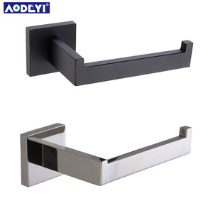 Matte Black Toilet Paper Holder Wall Mount Tissue Roll Hanger 304 Stainless Steel Bathroom Accessories(China)
