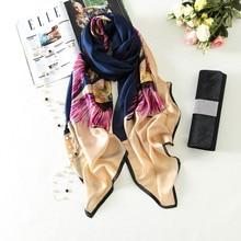 new arrived 2017 luxury brand silk scarf smooth women scarves long size Shawl Long Soft Summer Foulard Female Hijab