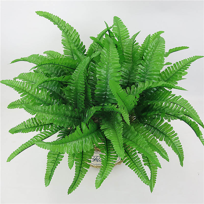 Hot Sale Artificial Flower Leaves Plants Pretty Fake Lifelike Plastic Persian Grass Fern Floral Wedding Green Leaves Decoration