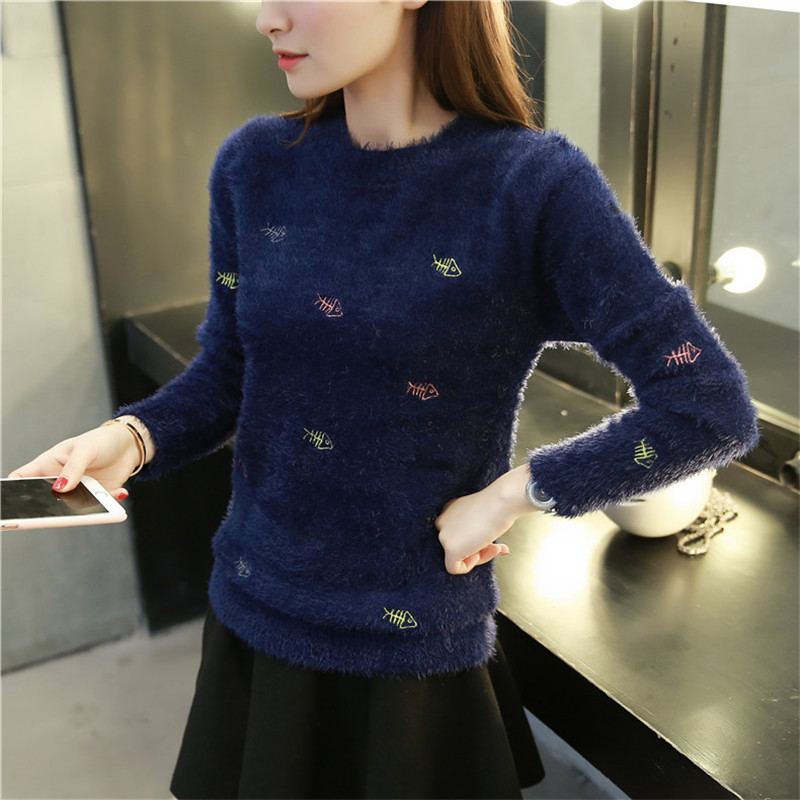2017 New Winter Sweater Pull Loveliness Femme Casual O-Neck Long Sleeve Pullovers Fur Sweater Women Christmas Mildness Keep Warm