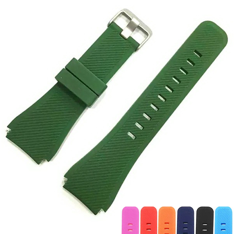 Rubber Strap Watchband Silicone Wristband Bracelet For Samsung Gear S3 R760 R770 wrist colorful active band replacement 22mm