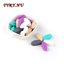 TYRY.HU 10Pc Carambola Shape Food Grade Silicone Beads BPA Free for DIY Baby Tee