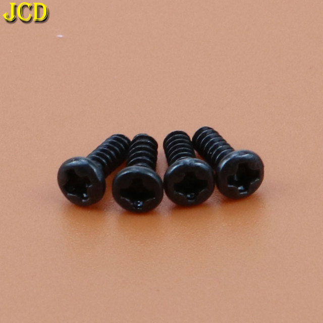 JCD 4PCS Black Round Head Screw Alloy Cross Bolts For Sony Playstation 4 Repair Kit Philips Head Screws For PS4 Controller 2