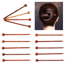 14 pieces Gorgeous Antique Handmade Printed Hair Sticks Shawl Picks Pins Female Wood Stick Hairpin Head Fork 13cm