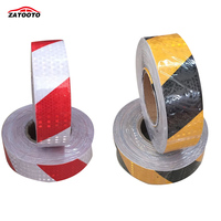 ZATOOTO (6 Rolls/ lot ) Wholesale Reflective Safety Conspicuity Tape Adhesive Hazard Warning Tape red/white black/yellow