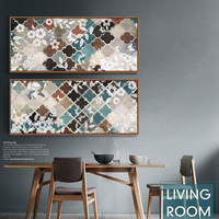 Modern Decorative Pattern Canvas Art Texture Color In Digital Printing Morocco Living Room Wall Art Home